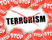 pic of stop fighting  - Vector illustration of stop terrorism background concept - JPG