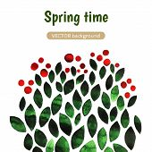 Постер, плакат: Beautiful Vector Watercolor Background spring Time