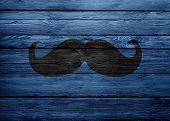Black Mustache On Wooden