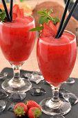 Strawberry daiquiri cocktail drink.