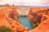 Lake Powell dam in Page Arizona