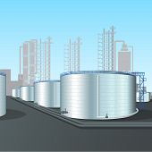 Refinery Vertical Steel Tank Farm With Pipeline