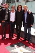 LOS ANGELES - MAY 9:  Jason Thompson, Guest, Rick Springfield, Doug Dvidson at the Rick Springfield Hollywood Walk of Fame Star Ceremony at Hollywood Blvd on May 9, 2014 in Los Angeles, CA