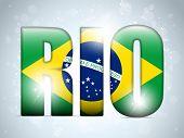 Brasil 2014 Letters With Brazilian Flag