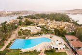 stock photo of aswan dam  - Aswan Elephantine Island with Nile river and Boats - JPG