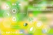 foto of environmentally friendly  - Vector web and mobile interface info graphic template - JPG