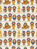 stock photo of king cobra  - seamless pharaoh pattern eps vector file and big jpg file  - JPG