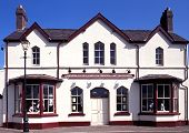 Railway station, Llanfair PG, Wales.