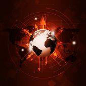 World Business Globe Red Background