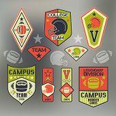 College Sport Emblem Rugby Team