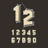 3D number icons. Vector set. Can be used for advertising and web design.