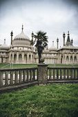 Brighton Palace Pavilion , a British Royal pleasure palace built in Indo-Saracenic style with ornate onion domes, columns and arches, a popular tourist destination
