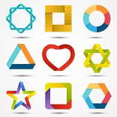 Abstract creative signs and symbols set. Logo template.