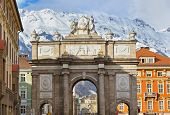 Triumph Arch in Innsbruck Austria - architecture background