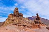 Rock at volcano Teide in Tenerife island - Canary Spain