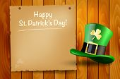 Wooden Background With St.patrick's Day Wish