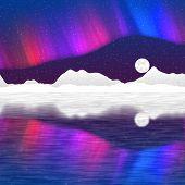 image of arctic landscape  - Arctic pole landscape generated hires texture background - JPG