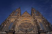 St. Vitus Cathedral In Prague At Night, Czech Republic