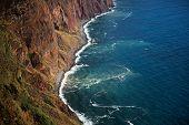 Ocean Waves Wash The Rocky Shore