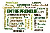 Entrepreneur word cloud on white background