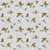 Christmas Seamless Background - Watercolor Style - in vector