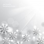 eps10 vector Christmas overlapping snowflakes chrome background