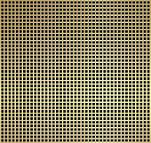 Metallic golden square pattern on black