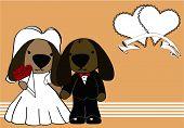 puppie married cartoon background