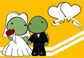 turtle married cartoon background