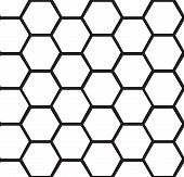 Abstract honeycomb seamless background