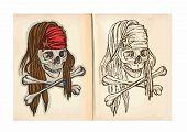 pic of skull crossbones flag  - Children - JPG