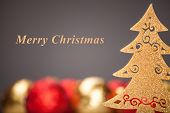 Christmas background. Christmas Tree with nice decorations