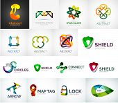 Abstract company logo vector collection - 16 modern various business corporate web logotypes