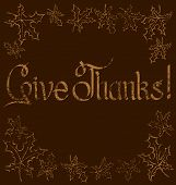 Vector calligraphic text Happy Thanksgiving as card title