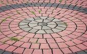 Brick footpath texture