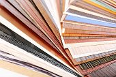 Color palette for furniture close-up