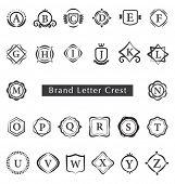 Alphabet Letters. Brand letters crest
