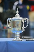 US Open Men singles trophy during trophy presentation after US Open 2014 championship match