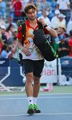 Professional tennis player David Ferrer after US Open 2014 match