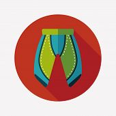 Cycling Shorts Flat Icon With Long Shadow,esp10