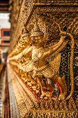 picture of garuda  - Golden Garuda of Wat Phra Kaew at Bangkok thailand  - JPG