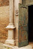 Old Church Door In Murano