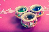 Indian Decorative Candle Pot - Retro