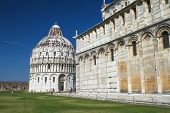 Duomo And The Baptistery In Pisa