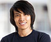 Young asian man close up shot