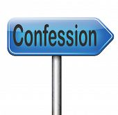 congfessing sins towarrds God, confession plea guilty as charged and confess crime testimony or proof truth