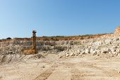 stock photo of derrick  - Limestone in the development of rock - JPG