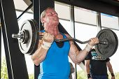 Strongman Lifting Weight At Championship
