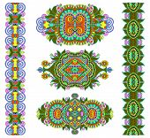 ornamental decorative ethnic floral adornment