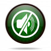 mute green internet icon